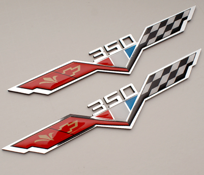 chevy 350 heritage flag emblems
