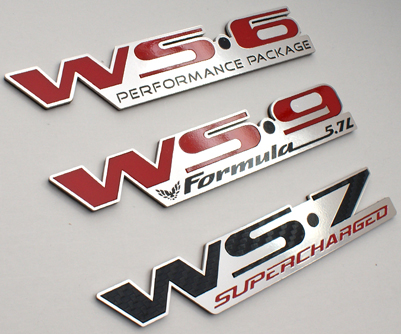 custom firebird trans am formula ws6 ws7 ws9 emblems
