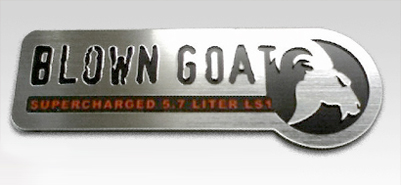 Blown Goat GTO fender emblem