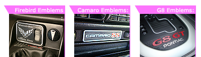 custom GM car emblems